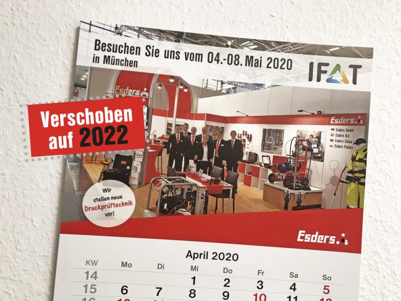IFAT 2020: Helaas, pindakaas!