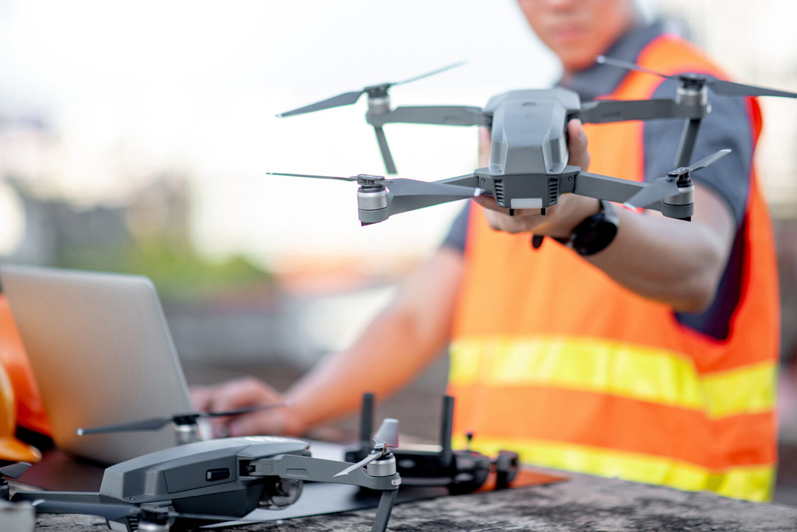 Drohneneinsatz-Industrieanlage